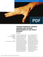 Trans Cutaneous Carbon Dioxide and Oxygen Monitoring in the Adult Patient