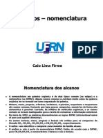 Alcanos - características e nomenclatura