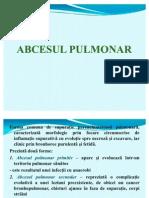 ABCESUL PULMONAR