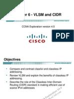 Ccna Exp2 - Chapter06 - Vlsm and Cidr