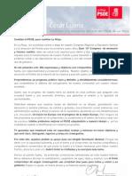 Carta de César Luena Cambiar el PSOE, para cambiar La Rioja
