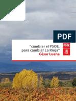 Proyecto de Candidatura de César Luena