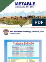 Timetable Second Sem 2011-2012