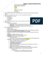 A&P Lecture Test 3 Review - Chap 9,10,11