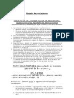 Registro de asociaciones - Información