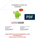Paper Presentation on Andriod