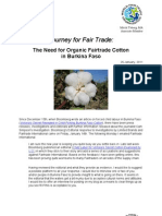 The Need for Organic Fairtrade Cotton in Burkina Faso