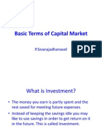 Basic Terms of Capital Market