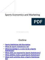 Sports Economics and Marketing