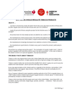 Position Paper on FDA as Authority Over Tobacco
