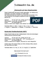 Flohmarktflyer 2012