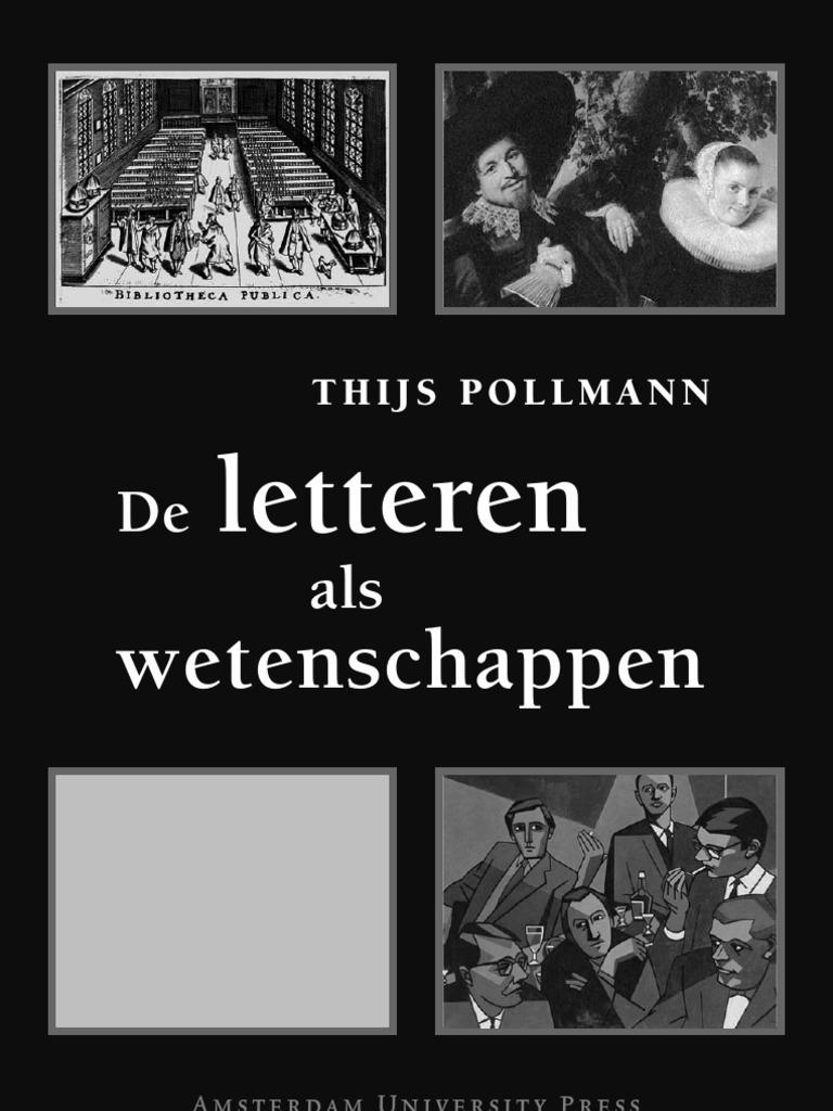 T Pollman De Letteren Als We Tens Chap Pen