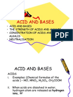 Acid and Bases