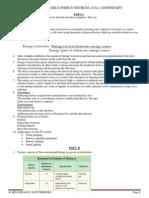 EE1451-RENEWABLE ENERGY SOURCES-SET-1-ANSWER KEY