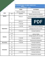 Calendario Academico II 2011