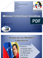 Misiones Bolivarianas Educativas