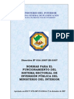 Directiva 016 2007 Ssip Min