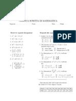 Verifica disequazioni 2 grado intere frazionarie sistemi
