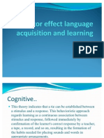 Factor Effect Language Acquisition and Learning