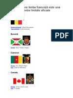 Țări în care limba franceză este una dintre limbile oficiale