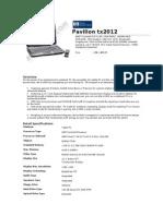 HP Pavilion Tx2012