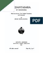 Vedantasara of Sadananda, translated with commentary of Swami Nikhilananda, of Ramakrishna Order (1931)