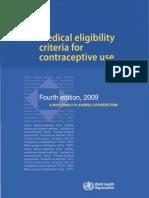 Medical Eligibility Criteria