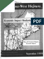 Maine East-West Highway Economic Impact - Phase 3 Summary