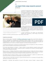 Bento XVI fala a consagrados