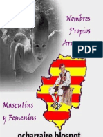 Nombres Propios Aragoneses