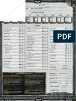 Deathwatch Character Sheet Editable
