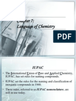 Chapter 7 Language of Chemistry