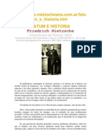 Nietzsche - Fatum e Historia
