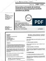 NBR 12591 - Dimensões principais de turbinas hidráulicas para PCH