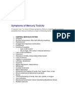 Symptoms of Mercury Toxicity v 2