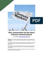 The Communis Manifesto - JVW