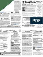 January 29 Bulletin