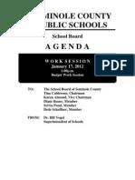 School Board Work Session Jan 17 2012
