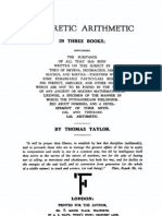Taylor, Theoretic Arithmetic