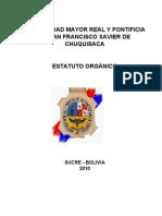 Estatuto Organico Usfx Reformado 2010