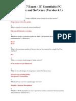 Chapter 7 Exam - IT Essentials 4.1 2011