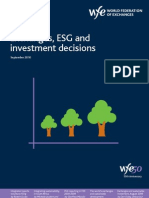 Exchanges, ESG and Investment Decision