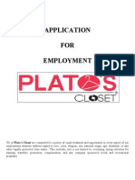 Platos Closet Application