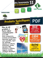 Tarif Produits Imprimes STAND Plaque Artek 2011