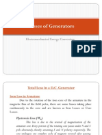 Losses of Generators