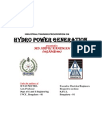 Hydro electric power plant Automation