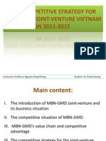 The Competitive Strategy for Mbn-gmd Joint-Venture Vietnam