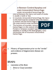 Distinction Between Cerebral Apoplexy and Post-Traumatic Intracerebral Hemorrhage