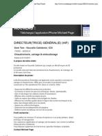 12 DIRECTEUR(TRICE) GÉNÉRAL(E) - Michael Page France