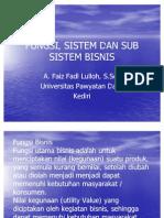 Fungsi, Sistem Dan Sub Sistem Bisnis